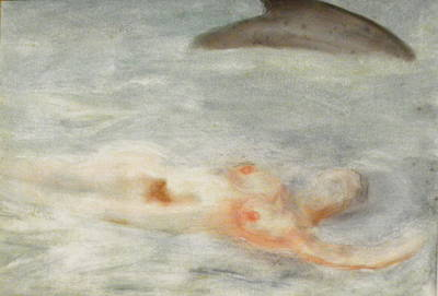 Nude Marilyn Monroe Painting - Swimmers by Artist Geoff Francis