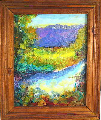 Painting - Swimming Hole 1 by Les Leffingwell