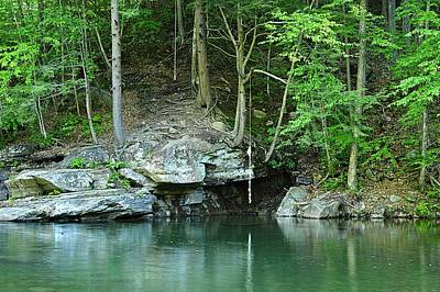 Swimming Hole At Rock Run Art Print