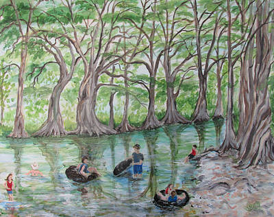 Swimming Hole Painting - Swimming Hole by Beth Waltman