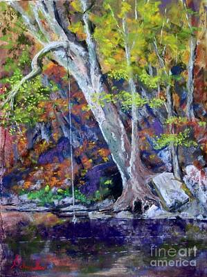 Swimming Hole Art Print by Bruce Schrader