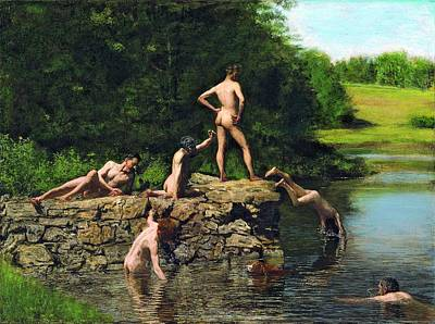 Swimming Hole Art Print by Thomas Eakins
