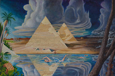Swimming In That River In Egypt Art Print by Matt Konar