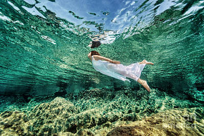 Photograph - Swimming In Transparent Sea by Anna Om