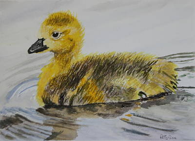 Goslings Painting - Swimming Is Fun by Betty-Anne McDonald
