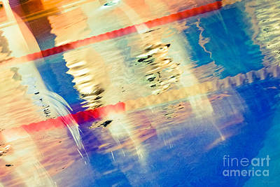 Swimming Pool 01b - Abstract Art Print by Pete Edmunds