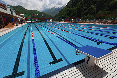 Grand Hotels Photograph - Swimming Pool At Grand Hotel Polyana by Panoramic Images