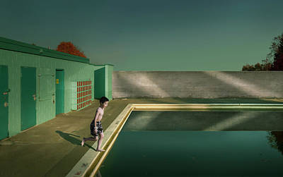 Boys Photograph - Swimming Pool by Fang Tong