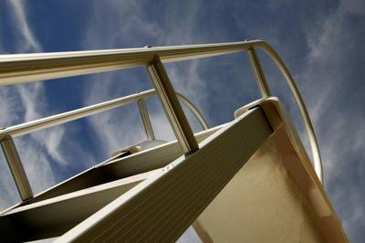 Swim Ladder Photograph - Swimming Pool Ladder by Con Tanasiuk