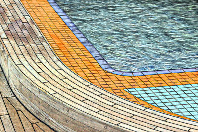 Photograph - Swimming Pool by Maria Coulson