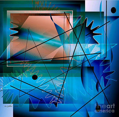 Swimming Towards The Light Art Print by Iris Gelbart