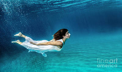 Photograph - Swimming Underwater by Anna Om