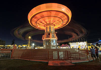 Photograph - Swing At The Fair by Bob Noble Photography