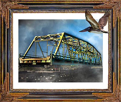 Swing Bridge Print by Betsy Knapp