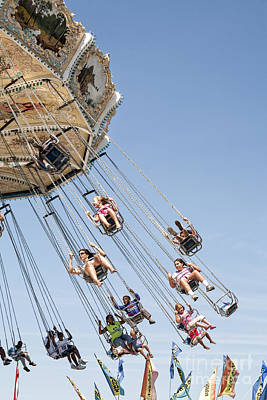 Photograph - Swing Carousel At A County Fair by William Kuta