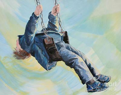 Wall Art - Painting - Swing by Ellen Moore Osborne