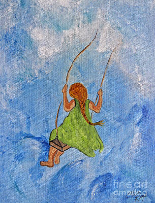 Painting - Swing High Into The Clouds - Painting by Ella Kaye Dickey