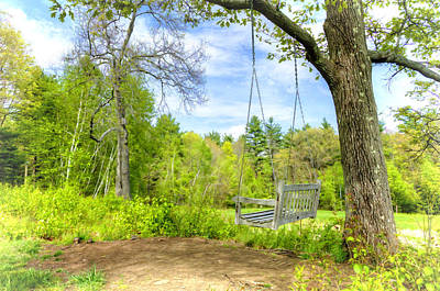Rocking Chair Photograph - Swing In Paradise by Donna Doherty