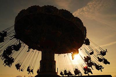 Swing Ride At Sunset Original