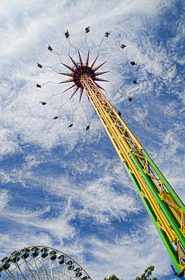 Photograph - Swing Wheel And Sky by Beth Sawickie