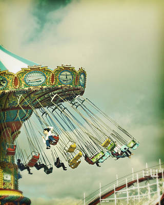 Photograph - Swingin' - Santa Cruz Boardwalk by Melanie Alexandra Price