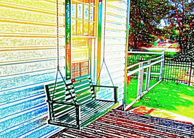 Swingin' Art Print by Steve C Heckman