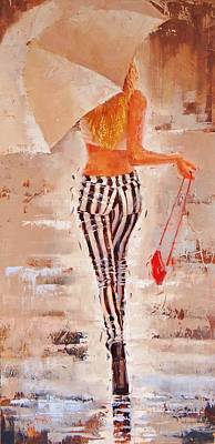 Attitude Painting - Swingin Two by Laura Lee Zanghetti