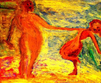 Nonverbal Communication Painting - We Were Swinging At The Club All Night But The Next Day We Were Like Strangers  by Hilde Widerberg