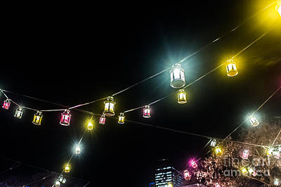 Photograph - Swinging Lanterns by Silken Photography