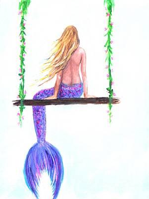 Painting - Swinging by Leslie Allen