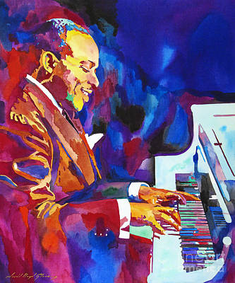Jazz Legends Wall Art - Painting - Swinging With Count Basie by David Lloyd Glover