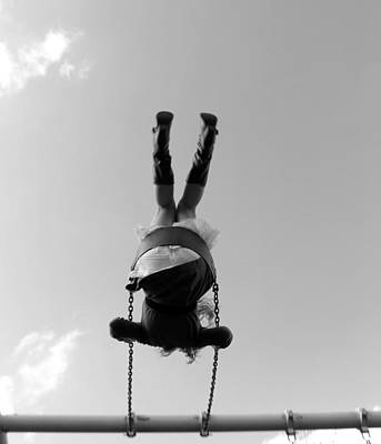 Swings Bw Art Print