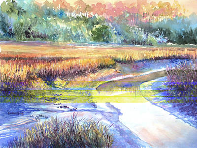 Lowcountry Painting - Swinton Creek Blues by Alice Grimsley