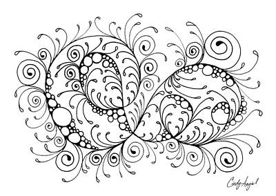 Art Therapy Drawing - Swirl Haven - Horizontal  by Cindy Angiel