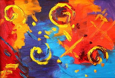 Dash Painting - Swirl by Nancy Merkle
