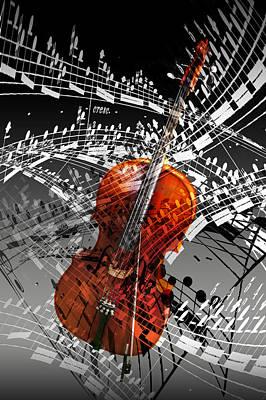 Swirl Of Music Art Print