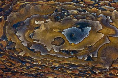 Swirl Pattern On Deschutes Jasper Slab Art Print