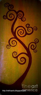 Painting - Swirl Tree by Rekha