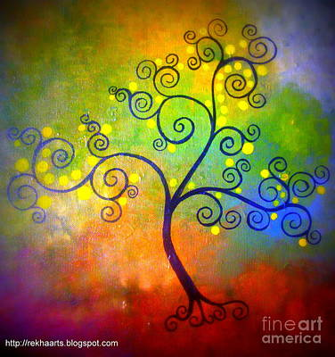 Painting - Swirl Tree by Rekha Artz