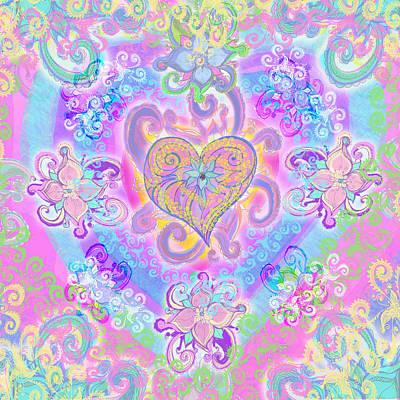 Illustration Art Photograph - Swirley Heart by Alixandra Mullins