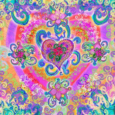 Illustration Art Photograph - Swirley Heart Variant 1 by Alixandra Mullins