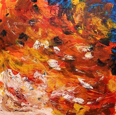 Art Print featuring the painting Swirling And Dancing by John Williams