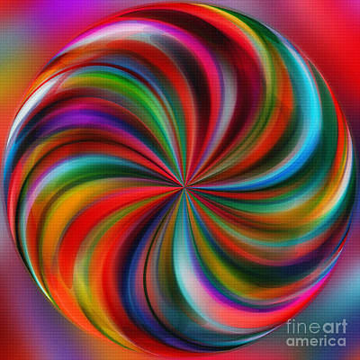 Multicolored Digital Art - Swirling Color By Kaye Menner by Kaye Menner