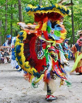 Photograph - Swirling Colors - Nanticoke Powwow Delaware by Kim Bemis