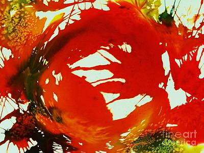 Painting - Swirling Crimson Abstract by Ellen Levinson