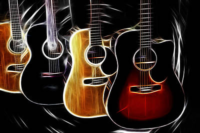 Photograph - Swirling Guitars by Athena Mckinzie