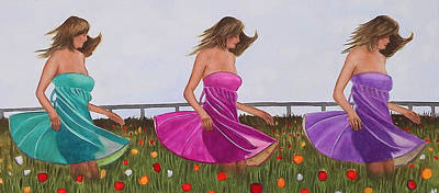 Painting - Swirling In A Field Of Flowers by Cory Clifford