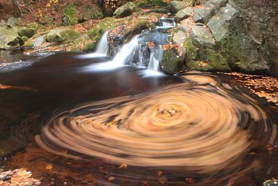Photograph - Swirling Leaves In Pool Enders Falls by John Burk