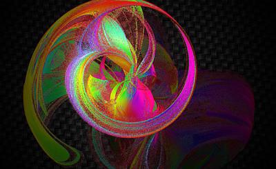 Digital Art - Swirling Sherbet by Betsy Jones