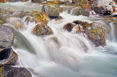 Digital Art - Swirling Waters Of Ribbon Creek Yosemite National Park by Steven Barrows